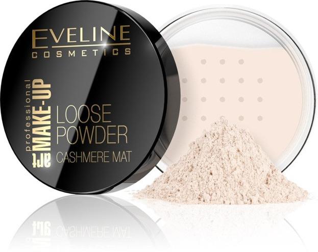 Eveline Make-Up Loose Powder Sypki puder do twarzy 01 Transparent 20g