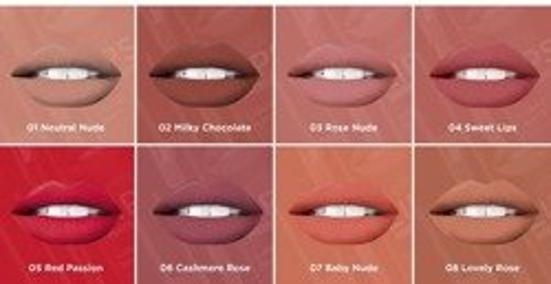 Eveline Oh!my Lips Matt Kit Zestaw Płynna pomadka+Kredka 03 Rose Nude