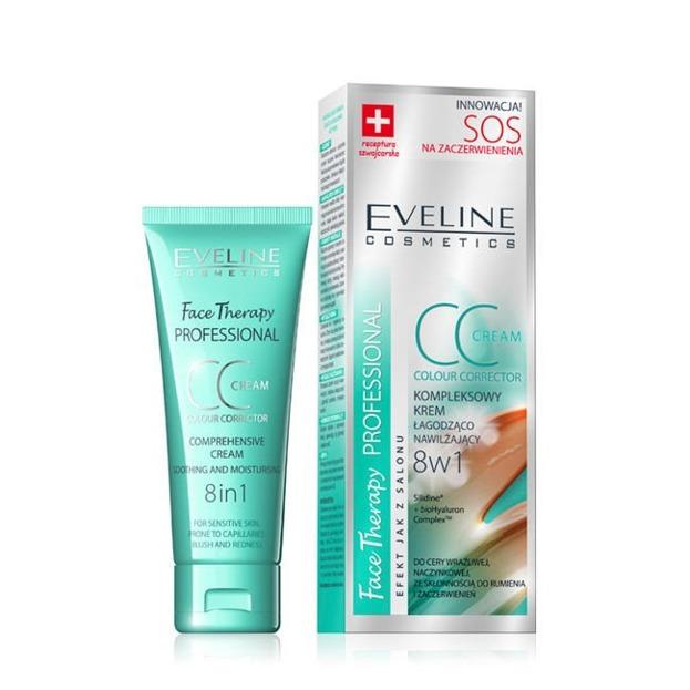 Eveline SOS - Kompleksowy krem CC łagodząco - nawilżający 8w1 30ml