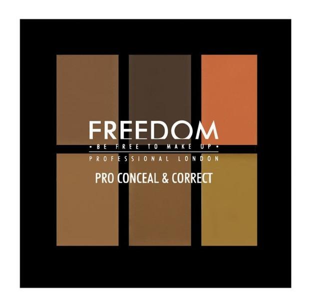 Freedom Makeup PRO Conceal & Correct Palette - Paleta 6 korektorów do twarzy  Dark