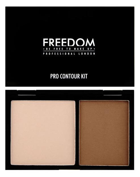 Freedom Makeup PRO Contour Kit - Zestaw pudrów do konturowania twarzy Medium 01