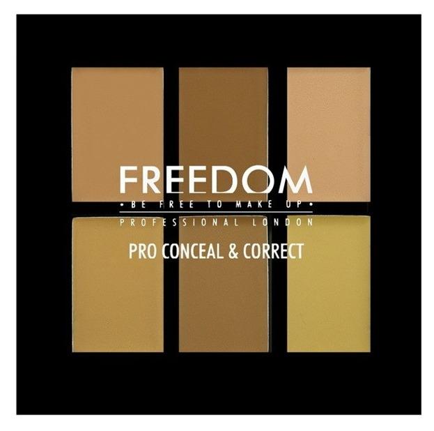 Freedom PRO Conceal&Correct Palette - Paleta 6 korektorów do twarzy Light/Medium