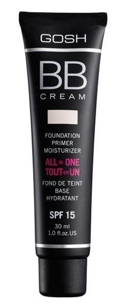 GOSH All In One BB Cream Foundation, Primer, Moisturizer Wielofunkcyjny krem BB – krem, baza, podkład 01 Sand