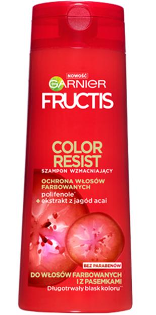 Garnier Fructis Color Resist Szampon wzmacniający do włosów farbowanych 400ml