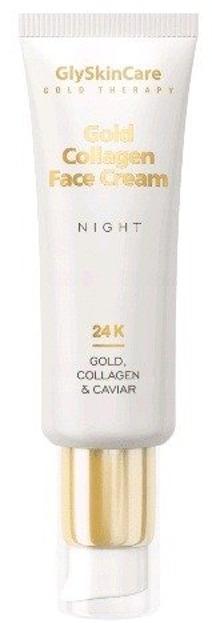 GlySkinCare Gold Collagen Face Cream Kolagenowy krem do twarzy ze złotem i kawiorem NA NOC 50ml