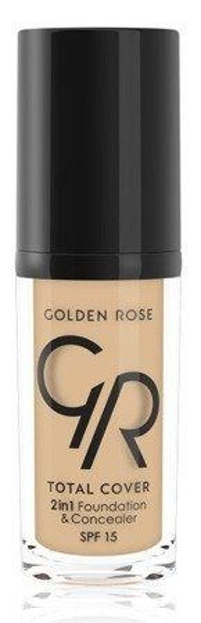 Golden Rose Total Cover 2 in 1 Foundation & Concealer Kryjący podkład i korektor 2w1 03 Almond