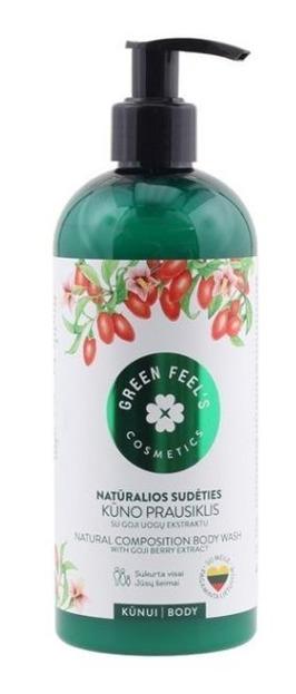 Green Feel's Płyn do mycia ciała z ekstraktem z jagód Goji 400ml