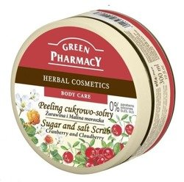 Green Pharmacy Peeling Cukrowo - solny Żurawina&Malina 300ml