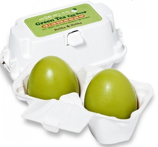 Holika Holika Egg Soap Green Tea - Mydełko do mycia twarzy