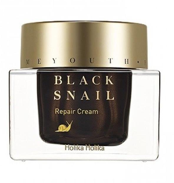 Holika Holika Prime Youth Black Snail Repair Cream - Krem nawilżający o wysokiej zawartości ekstraktu ze śluzu ślimaka 50ml