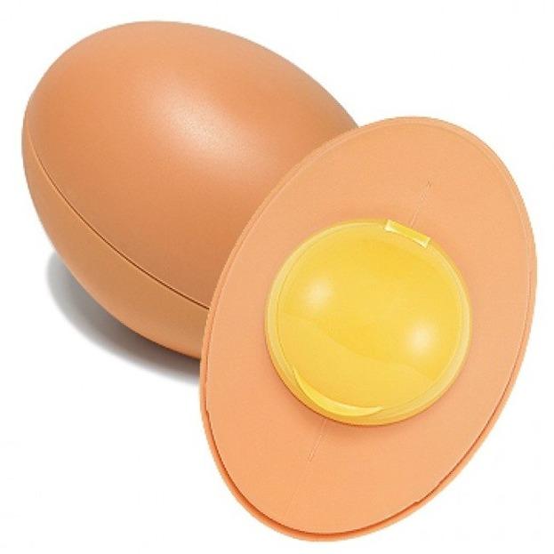Holika Holika Sleek Egg Skin Cleansing Foam beige - Delikatna pianka myjąca do twarzy 140ml