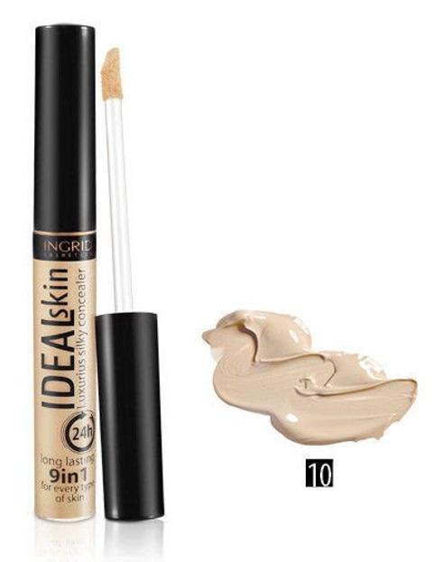 Ingrid Ideal Skin Luxurius Silky Concealer 9in1 - Korektor w płynie 9 w 1 Odcień: 10