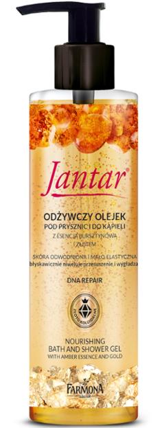 Jantar Odżywczy olejek pod prysznic i do kąpieli z esencją bursztynową i złotem 400ml