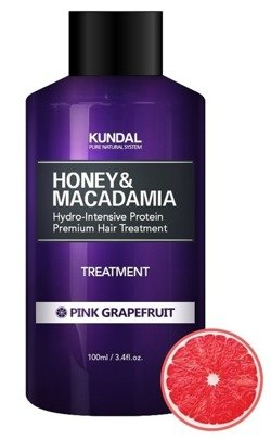 KUNDAL Honey&Macadamia Treatment PINK GRAPEFRUIT Odżywka do włosów Różowy grapefruit 100ml