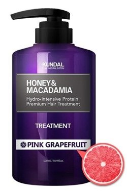 KUNDAL Honey&Macadamia Treatment PINK GRAPEFRUIT Odżywka do włosów Różowy grapefruit 500ml