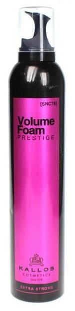 Kallos SNC78 Volume Foam Prestige Extra Strong - Pianka utrwalająca ekstra mocna, 300 ml