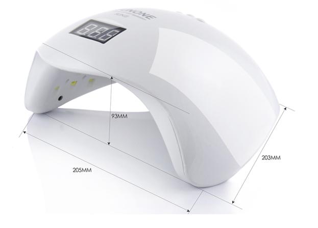 Lampa Sun5 Dual LED/UV 48W LCD SunOne Biała WYŚWIETLACZ