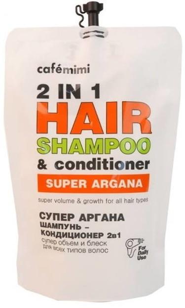 Le Cafe Mimi SUPER ARGANA Szampon i odżywka 2w1 Super Objętość ZAPAS 450ml