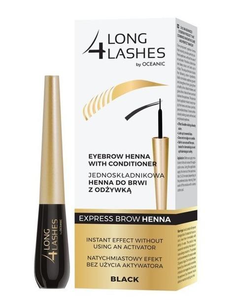 Long4Lashes Express henna do brwi z odżywką Black 6ml