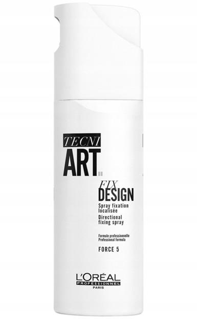 Loreal Tecni Art Fix Design Spray Fixation 5 - Precyzyjny spray do utrwalania miejscowego, 200 ml