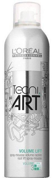 Loreal Tecni Art Volume Lift Spray Mousse 3 - Pianka w sprayu nadająca objętość od nasady 250 ml