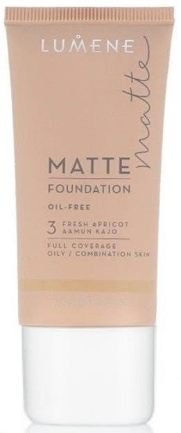 Lumene Matte Control Oil-Free Foundation - Podkład matujący 3 Fresh Apricot, 30 ml