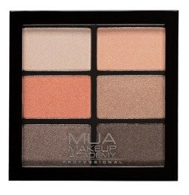 MUA 6 shade palette Paleta cieni do powiek Coral Delights 7,8g