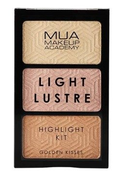 MUA Light Lustre Highlight Kit Paleta rozświetlaczy Golden Kisses