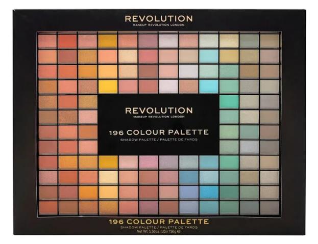 Makeup Revolution 196 Colour Palette Paleta 196 cieni do powiek Wyjątkowy Prezent