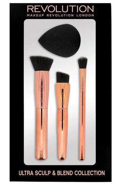 Makeup Revolution C301 Ultra Sculpt & Blend Collection- Zestaw 3 pędzli do makijażu + gąbka