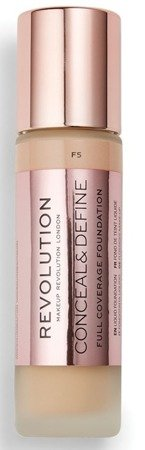 Makeup Revolution Conceal and Define Foundation Full Coverage Kryjący podkład do twarzy F5 23ml