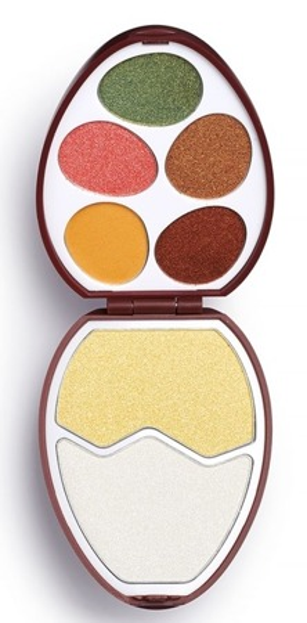 Makeup Revolution EASTER EGG Chocolate Zestaw cieni do powiek i rozświetlaczy