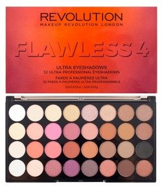 Makeup Revolution Ultra 32 Eyeshadow Palette Flawless 4 - Paleta 32 cieni do powiek