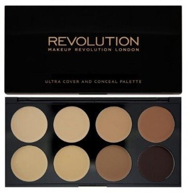 Makeup Revolution Ultra Cover&Concele - Paleta korektorów Medium-Dark