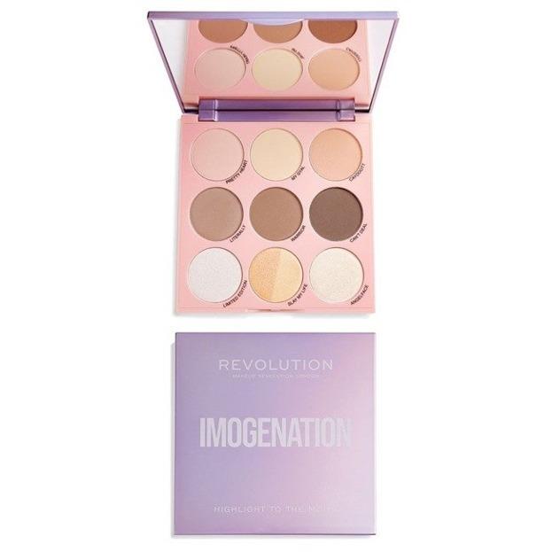 Makeup Revolution X Imogenation Highlight to the Moon Paletka rozświetlaczy i bronzerów do twarzy
