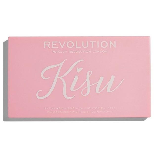 Makeup Revolution X Kisu Eyeshadow Palette Paleta cieni do powiek i rozświetlaczy