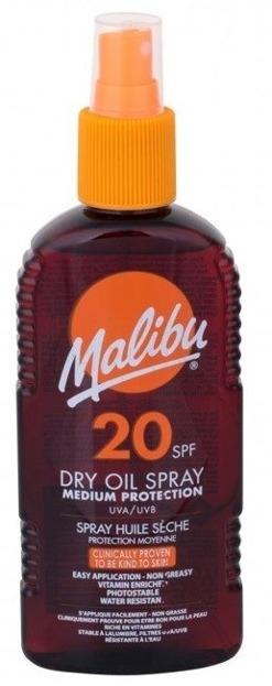Malibu 20SPF Dry Oil Spray Medium Protect Suchy olejek do opalania 200ml