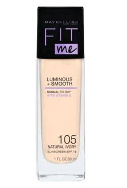 Maybelline Fit Me Luminous + Smooth Foundation Rozświetlający podkład do twarzy 105 Natural Ivory 30ml