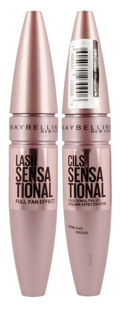 Maybelline Lash Sensational Mascara - Tusz do rzęs Intense Black 9,5 ml