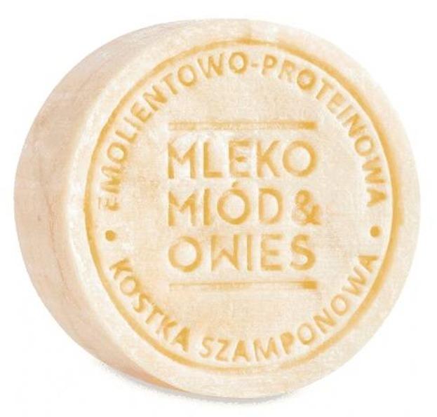 Ministerstwo Dobrego Mydła szampon kostka Mleko/Miód/Owies 85g