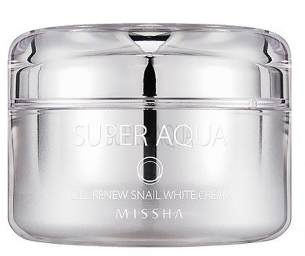 Missha Super Aqua Cell Renew Snail White Cream Rozjaśniający krem do twarzy 47ml