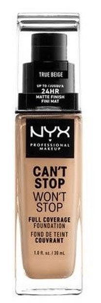 NYX Can't Stop Won't Stop Długotrwały podkład kryjący 08 True beige 30ml