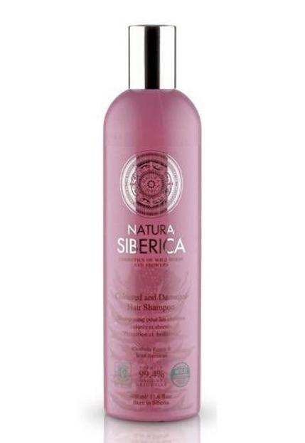 Natura Siberica Szampon do włosów farbowanych i zniszczonych Ochrona i Blask, 400 ml