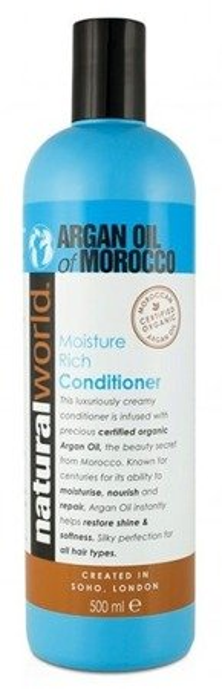 Natural World Argan Oil of Morocco Conditioner Nawilżająca odżywka z olejkiem arganowy do włosów 500ml