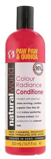 Natural World Paw Paw & Quinoa Conditioner Odżywka do pielęgnacji włosów farbowanych 500ml