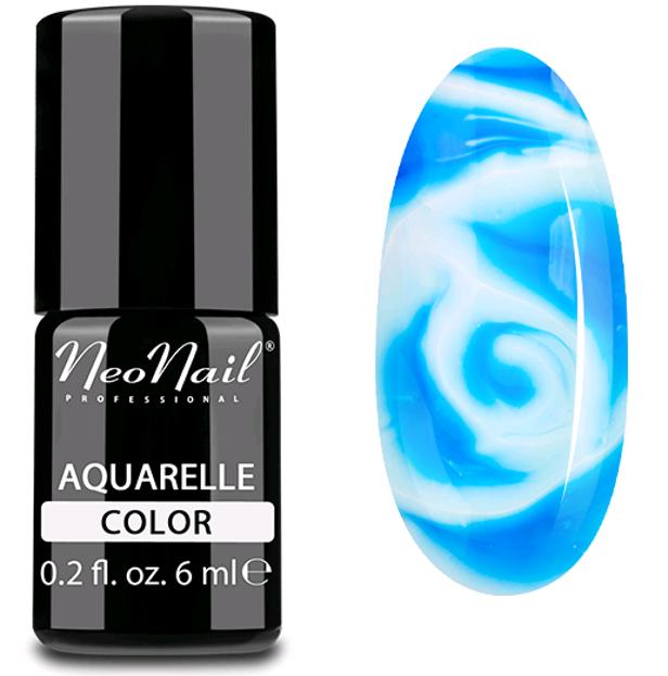 NeoNail Aquarelle Lakier 5752 - Ocean Aquarelle - Lakier hybrydowy do paznokci o akwarelowym wykończeniu