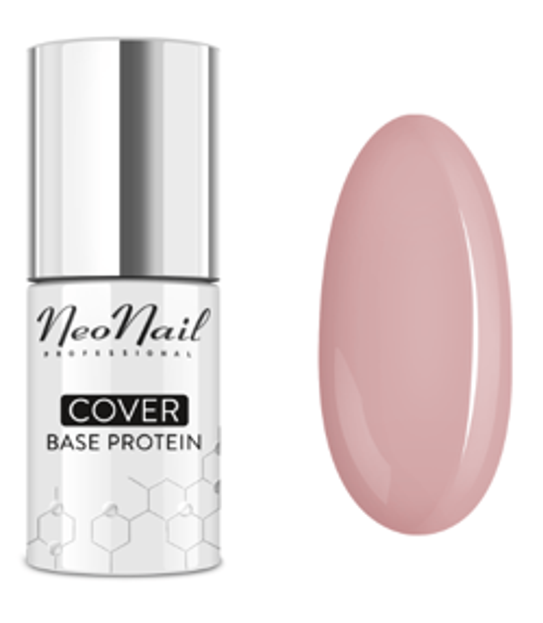 Neonail COVER Base Protein Baza hybrydowa NATURAL NUDE 7,2ml