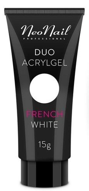Neonail Duo Acrylgel French White Żel do budowania i przedłużania paznokci 15g