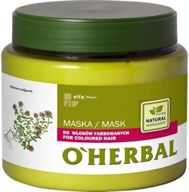 O'Herbal Maska do włosów farbowanych z ekstraktem z macierzanki i tymianku 500 ml