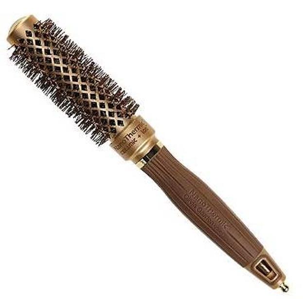 Olivia Garden Szczotka do włosów Nanothermic 24mm gold/brown